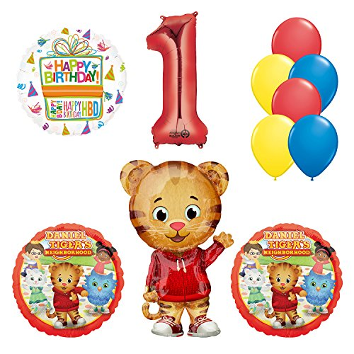 Mayflower Products Daniel Tiger Neighborhood 1st Birthday Party Supplies and Balloon Decorations AMZKIT741 (1 Tiger)