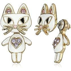 "Betsey Johnson""Mini Critters"" Cat Earrings Jacket"