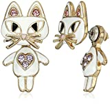 Betsey Johnson''Mini Critters'' Cat Earrings Jacket