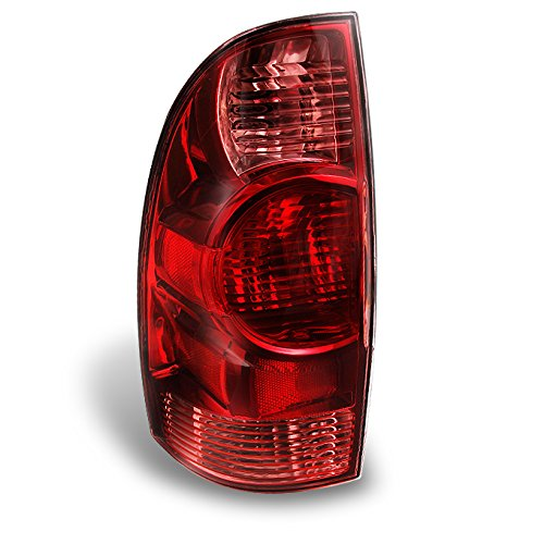 For Toyota Tacoma Pickup Truck Red Clear Tail Lights Rear Brake Lamps Replacement Driver Left Side