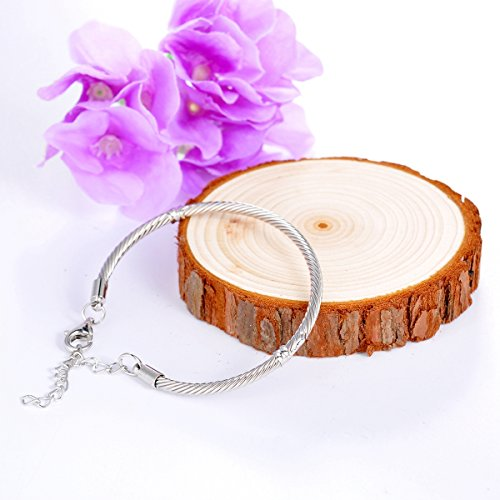 HOUSWEETY Bracelet Jonc en Cuivre pour Femme Homme