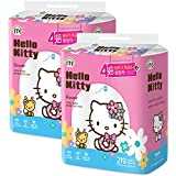 Hello Kitty Flower 100% Virgin Pulp 4-ply Toilet Tissue 48 Rolls (Two Packs of 24 Rolls)