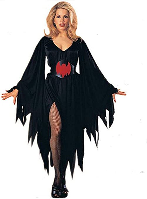 MissFox Halloween Adulto Mujer Murcielago Disfraz Freesize: Amazon ...