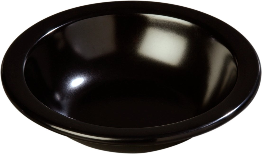 10oz Capacity Carlisle 4352903 Dallas Ware Melamine Grapefruit Bowl 5.95 Diameter x 1.54 Depth Carlisle FoodService Products 43529-03 Black 5.95 Diameter x 1.54 Depth Case of 48