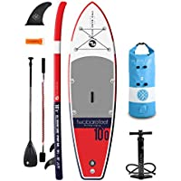 """Two Bare Feet Sport Air 10'0"""" / 10'6"""" / 10'10"""" / 12'6"""" / 4"""" and 6"""" Thick Inflatable Paddleboard SUP Starter Pack"""