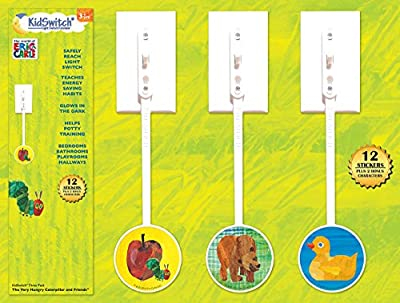 KidSwitch Light Switch Extender 3 Pack - The World of Eric Carle Edition