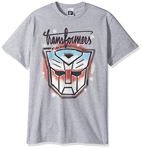 Transformers Men's Autobots Graffiti Logo T-Shirt, Sport Grey, M