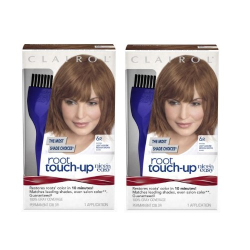 Clairol Nice 'n Easy Root Touch-Up 6R Kit (Pack of 2), Matches Light Auburn/ Reddish Brown Shades of Hair Color, Superior Grey (Auburn 2 Light)