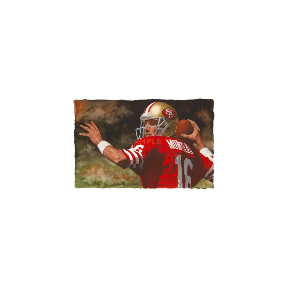 Joe Montana Print San Francisco 49ers Large Canvas Art