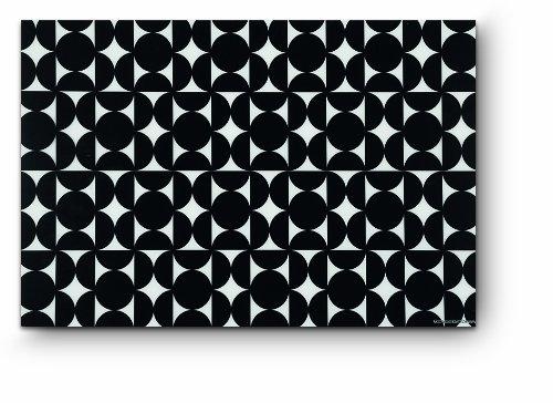 Citta Design - Citta Design 'Hana' Rectangular Placemats, Ink Black, Set of Four High Grade Polymer Placemats,18x12 inches