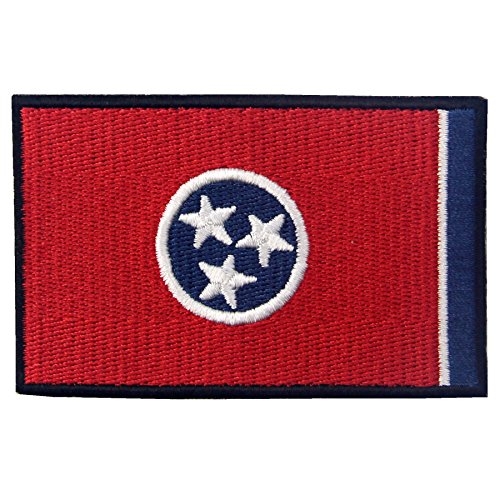 EmbTao Embroidered Tennessee State Flag Iron On Sew On Patch TN Emblem