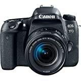 Canon EOS 77D EF-S 18-55 IS STM Kit #189C016 [International Version] (Camera + Free Cloth & Blower)