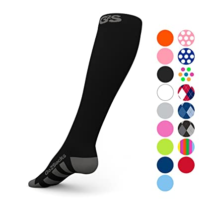 98e30df98ff Go2 Compression Socks (1 Pair) for Women and Men Athletic Running Socks for  Nurses