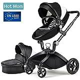 Hot Mom Kombikinderwagen mit Buggyaufsatz und Babywanne 3-in-1 Travelsystem Funktion 2018