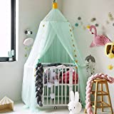 HIFUAR Mosquito Net Bed Canopy Yarn Play Tent Bedding for Kids Playing Reading with Children Lace Netting Curtains Boys and Girls Games House(Light Green)