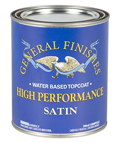 (General Finishes PTHS High Performance Water Based Topcoat, 1 Pint, Satin)