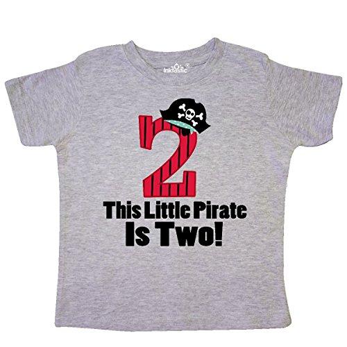 inktastic Pirate 2nd Birthday Toddler T-Shirt 2T Heather Grey