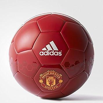 adidas Manchester United Balón de Fútbol, Hombre, Rojo (Rojpot/Rojrea/Blanco