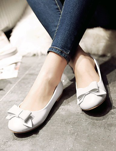 talón Flats pink piel eu36 mujer rosa punta sintética de us6 blanco redonda plano zapatos cn36 uk4 azul de PDX Casual RCwY4qv