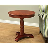 Frenchi Home Furnishing Round Table, Walnut