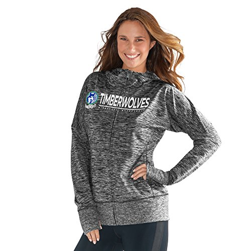 fan products of NBA Minnesota Timberwolves Women's Receiver Hoody, XX-Large, Heather Grey