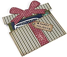 TIM HOLTZ THINLITS CUTTING DIE SET GIFT CARD PACKAGE 662417 CHRISTMAS SIZZIX