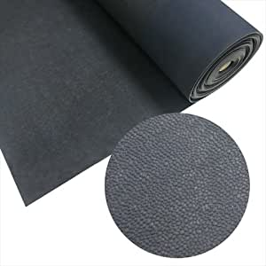 Rubber-Cal Tuff-N-Lastic Rubber Flooring Runners, 1/8-Inch x 4 x 4-Feet, Black
