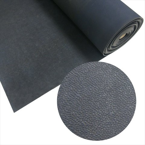 Black Rolled Rubber Sports Flooring