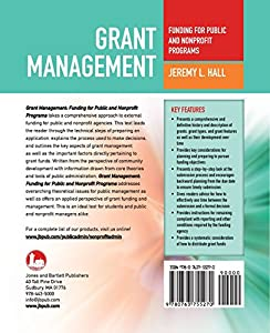Grant Management: Funding For Public And Nonprofit Programs from Jones & Bartlett Learning
