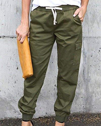 Baggy Tempo Vita Femminile Trousers Primaverile Colori Donna Pantaloni Libero Costume Pants Eleganti Solidi Huixin gr Coulisse Armee Autunno Pantaloni Lunga Elastica nqzYpxCOw