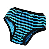 OOEOO Pet Physiological Pants, Dog Puppy Health Physiology Sanitary Physiological Pants Pet Underwear Diapers(Blue,L)