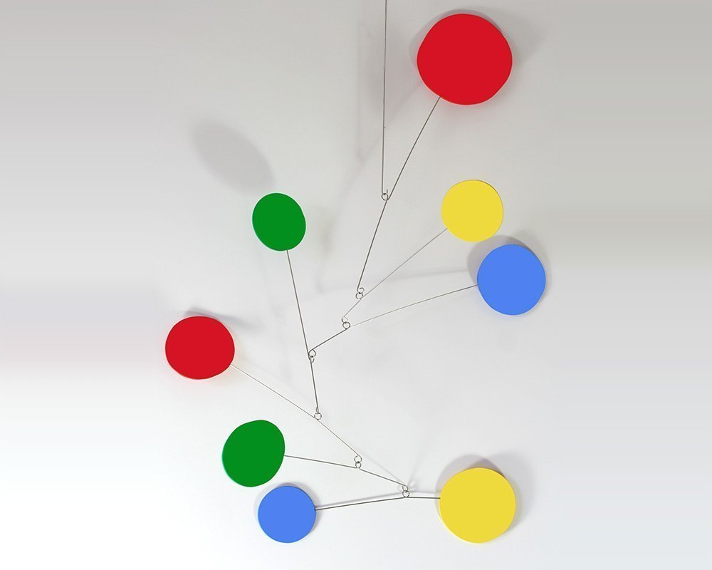 Exuberant Art Mobile - 3 Sizes To Choose From - Calder and Midcentury Modern Inspired Moving Sculpture