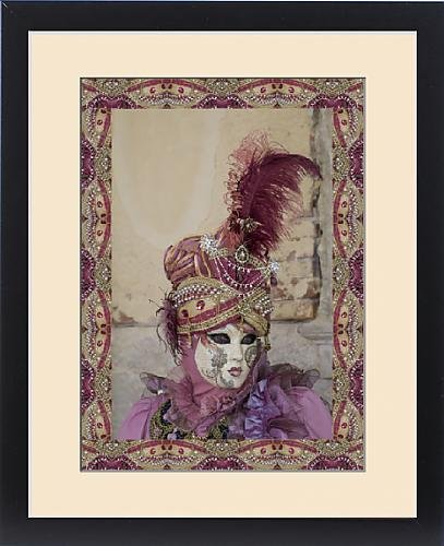 [Framed Print of Elaborate costume for Carnival Venice Italy] (Venice Carnival Costumes Patterns)
