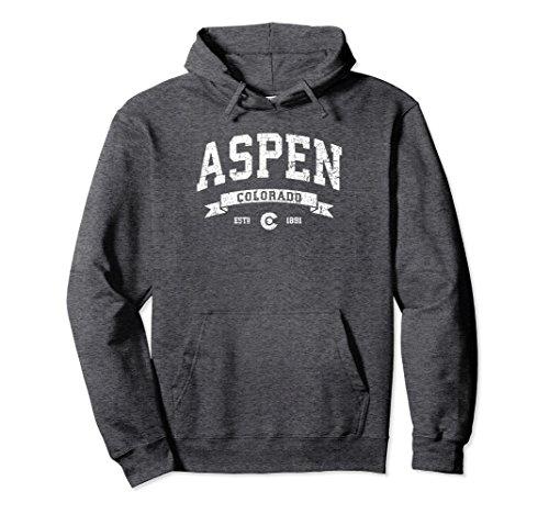 Aspen Sweater (Unisex Aspen Hoodie / Vintage Aspen Colorado Sweatshirt CO Small Dark Heather)