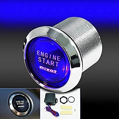 Bleiou 12V Car Engine Start Push Button Switch Ignition Starter Kit Blue LED Universal: Car Electronics
