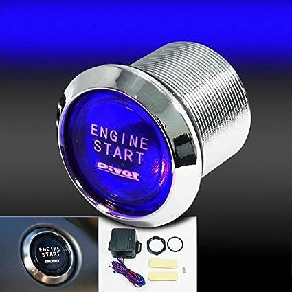 Auto Car Engine Start Push Button Switch Blue LED Illumination Ignition Starter