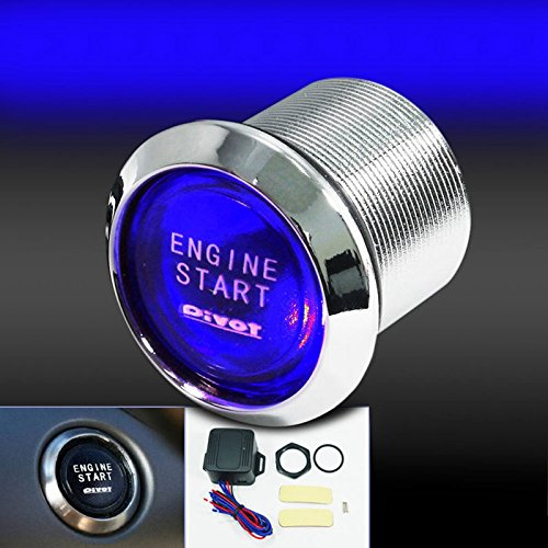 Bleiou 12V Car Engine Start Push Button Switch Ignition Starter Kit Blue LED Universal