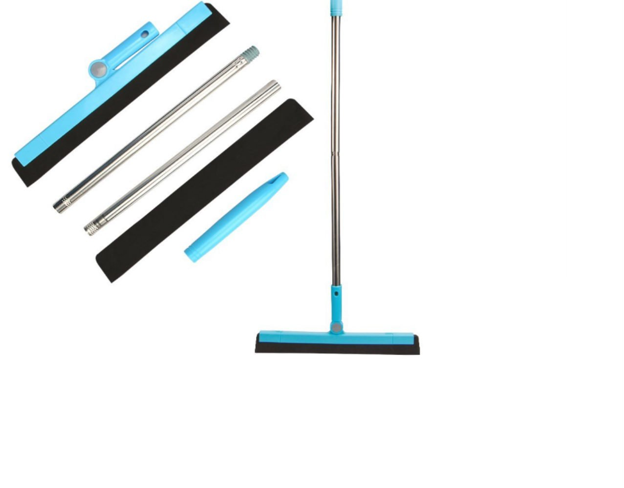 Floor Squeegee Wiper Window Squeegee Cleaner Blade Water Wiper Glass Sweep Brush for Bathroom Wet Room Floor Pet Hair Window Cleaning