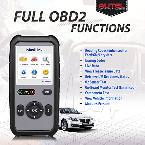Autel ML529HD OBD2 Scan Tool Upgraded ML519 with Enhanced Mode 6/One-Key Ready Test for Heavy-Duty J1939 & J1708 with AutoVIN/Internet Updatable/Print Data by Autel (Image #1)