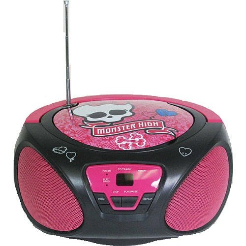 Portable, Monster High CD Boombox (56049) Consumer Electronic Gadget Shop by Portable4All