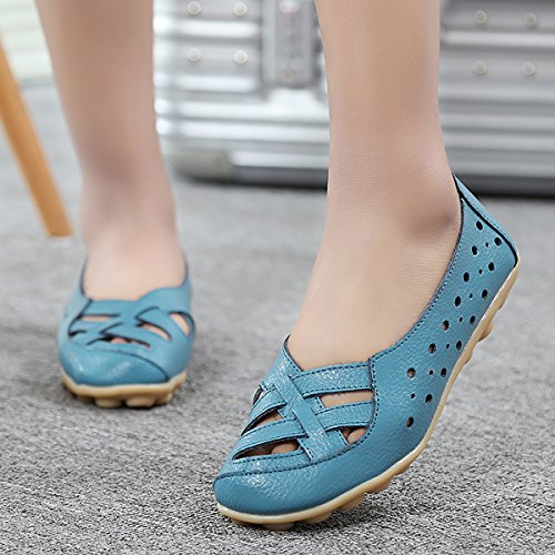 Slip Style2 Driving Womens Shoes Flat ONS Leather Feetmat Loafers qPvYpS