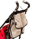 Pack and Go Neoprene Stroller Organizer: Attachable Stroller Bag, Universal fit, Extra Large Zipper Storage Space for Diapers, Wipes, Wallet and Personal Items