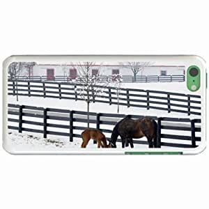Custom Fashion Design Apple iPhone 5C Back Cover Case Personalized Customized Diy Gifts In A snowy White