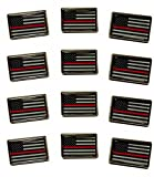 Thin Red Line Lapel Pin (12 Pack)