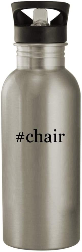 #chair - 20oz Stainless Steel Hashtag Outdoor Water Bottle, Silver