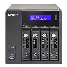 QNAP TVS-471-PT-4G-US 4-Bay Intel G3250 3.2GHz Dual Core, 4GB RAM, 4LAN, 10G-ready (TVS-471-PT-4G-US)