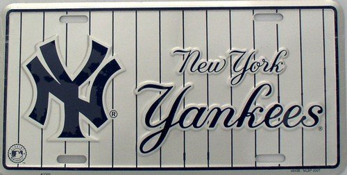 NY New York Yankees Pinstripe License Plate Plates Tags Tag auto vehicle car front