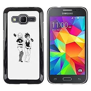 EJOY---Cubierta de la caja de protección la piel dura para el ** Samsung Galaxy Core Prime ** --Emo Girls