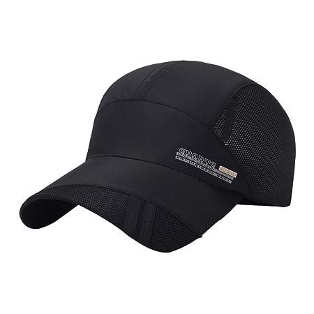 Qlans Gorra de malla de secado rápido Sombrero de béisbol de ...
