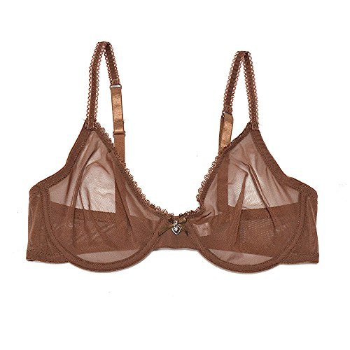 8d8a4639e Vogue s Secret Women s Lace Sheer See-Through Bra Set Plus Size Unlined  Transparent Bralette Breathable